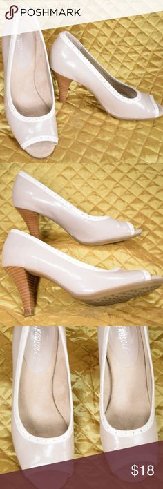 Aerosoles Size 7.5 M Grandluxe Nude Peep Toe Pumps Women's peep toe pumps in excellent condition! Just a little scuff on one of the heels which I have shown in the photos!   **If you appreciate old school quality - you're in the right place. We don't just sell products, we put time & work into them. PLUS. we ship FAST! Usually within 1 business day! Thank you for poshing in my closet!! 😘🤟🌹 AEROSOLES Shoes Heels