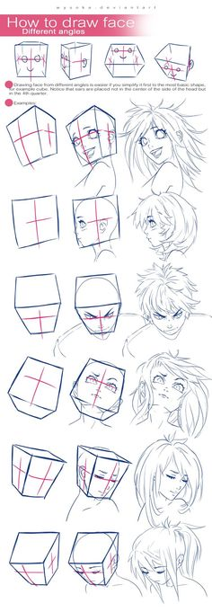 How To Draw A Head Using A Cube!