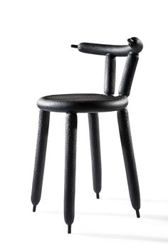 """""""Black Carbon Balloon Chair"""" by Marcel Wanders - photo from chairblog  (7/21/14);  also comes in gold and in a blue delft flower print"""