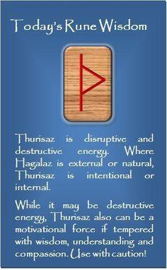 ☆ Today's Rune Wisdom .:✪:. Thurisaz ☆ More