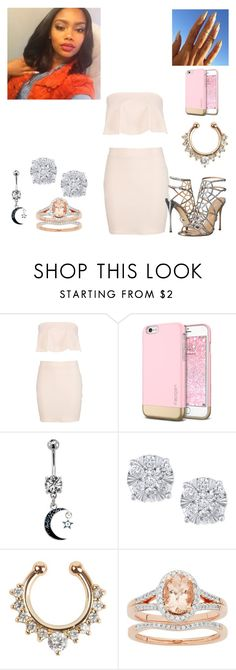 """bored asf set lol"" by babyprincesskat ❤ liked on Polyvore featuring beauty, Boohoo, Effy Jewelry and Sergio Rossi"