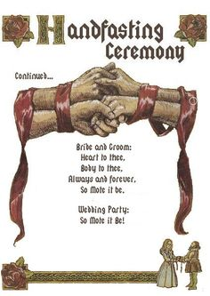 This Is The Second Page To My Hand Fasting Ceremony As Mentioned On First Uploaded I Couldnt Fit Whole One