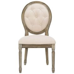 DINING CHAIRS ❤ liked on Polyvore featuring home, furniture, chairs, dining chairs, paris chair, oval chair, tufted dining chair, tufted side chair and tufted chair