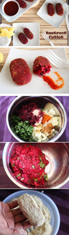 Looking for a last minute appetizer idea for the New Year's Eve Party ? These Beetroot Cutlets are just what you need. So easy to make and super delicious.