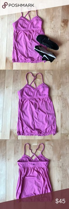 Lululemon Rehersal Tank Size 4 Lululemon reversible rehersal tank size 4, excellent condition lululemon athletica Tops Tank Tops