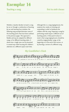 Lesson 7: Music Resources for the Classroom Singing Lessons, Song One, Sheet Music, Classroom, Teacher, Songs, Learning, Class Room