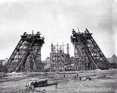 Tour Eiffel under construction, 1887