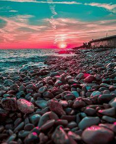 "Nature Fervor (@theearthfervor) on Instagram: ""Novigrad, Croatia. Pebble shore sunsets (: @kardinalmelon)"""