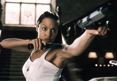 ( Lara Croft) Angelina Jolie from the movies Lara Croft: Tomb Raider and Lara Croft Tomb Raider: The Cradle of Life