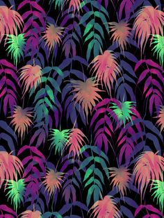New Palm Beach - Winter Art Print by schatzibrown #tropical #pattern