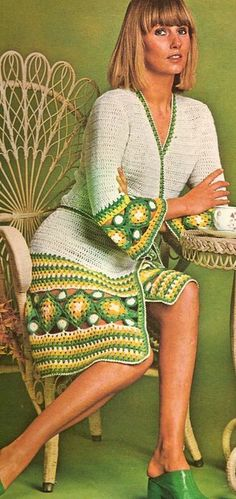 Ретро-журналы по вязанию крючком: