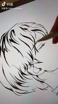 Eye Drawing Tutorials, Digital Painting Tutorials, Digital Art Tutorial, Art Tutorials, Art Drawings Sketches Simple, Pencil Art Drawings, Animal Drawings, Digital Art Beginner, Digital Art Anime