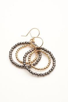 Mizuki Double Circle Earring by Mizuki from Amanda Pinson Jewelry