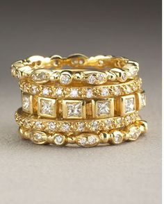 gold and diamond bands.