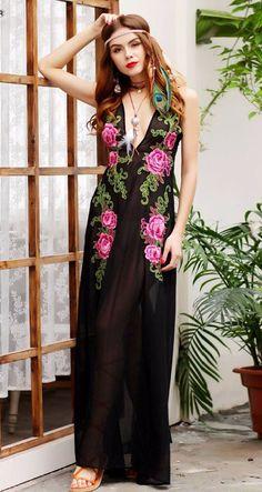 Shantelle Sheer Maxi Dress