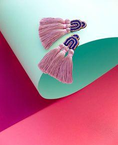 Duster Earrings via Coralie Reiter Jewelry / coraliereiter.com