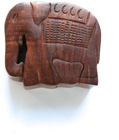 Fair & Square Imports Elephant Puzzle Box