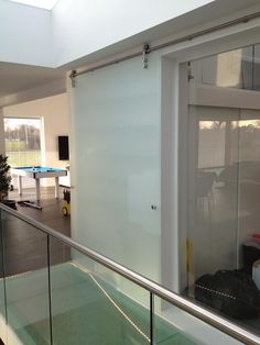 Glass Balustrades & Glass Stair banisters supplied and fitted. Family run team with over 50 years glazing experience in Kent. Balcony Glass Design, Glass Balcony, Stair Banister, Banisters, Glass Stairs, Glass Balustrade, Balconies, Staircases, Seating Areas