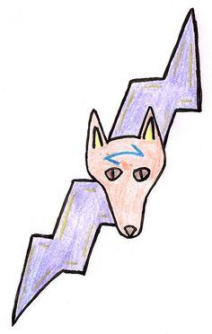 Lightning Dog. It does remind me of David Bowie a little bit. #lightningbolt #dogs #lightningdog #drawing #doodle
