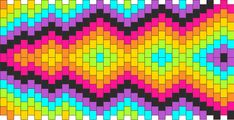 Rainbow Kalidescope Lightning Bolt Kandi Pattern
