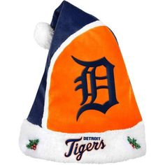 Forever Collectibles MLB 2015 Santa Hat, Detroit Tigers, Size: 17 inch, Blue