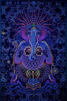 Psychedelic Art Ganesha UV Fabric Tapestry Backdrop Banner Party Studio Home Deco Arte Ganesha, Shri Ganesh, Durga, Yoga Kunst, 1366x768 Wallpaper, Psychedelic Experience, Psychadelic Art, Psychedelic Tapestry, Banner Backdrop