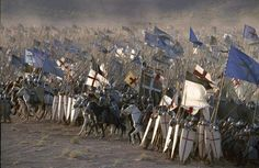 Kingdom of Heaven shot Knights Hospitaller, Knights Templar, Kingdom Of Jerusalem, Christian Warrior, Templer, Kingdom Of Heaven, Medieval Knight, Dark Ages, British History