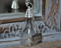 Wishes: Real Dandelion Seed Teardrop bottle Necklace - Childhood Memories