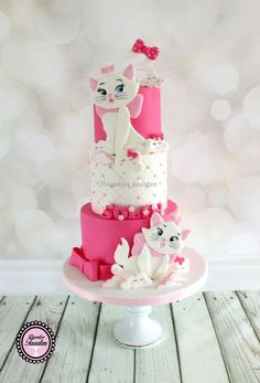 dec 6 2019 this Birthday Desserts, Birthday Cake Girls, Beautiful Cakes, Amazing Cakes, Tortas Baby Shower Niña, Kitten Cake, Diy Birthday Decorations, Disney Cakes, Novelty Cakes