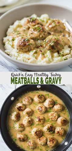Super soft melt-in-mouth texture of these ground turkey meatballs along with a creamy delicious gravy makes it into a satisfying meal. You can also label them as Thanksgiving turkey meatballs and include them in the upcoming holiday party menu. Healthy Turkey Recipes, Easy Ground Turkey Recipes, Chicken Recipes, Ground Turkey Recipe For Kids, Healthy Ground Turkey Dinner, Recipes With Ground Turkey, Ground Turkey Dinners, Ground Turkey Pasta, Ground Chicken