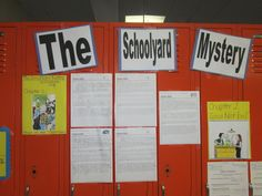 The Schoolyard Mystery Elizabeth Levy.  A fiction unit I did with my low level 5th and 6th grade readers