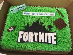 Fortnite birthday sheet cake Birthday Sheet Cakes, Birthday Cake, Cake Decorating, Decorating Ideas, Happy 10th Birthday, Novelty Cakes, Decorated Cakes, Cake Ideas, Party Time