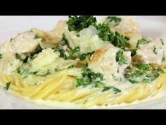 How to Make Creamy Chicken Alfredo Sauce over Pasta - YouTube