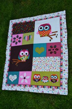 Baby Girl OWL Quilt-PERSONALIZED