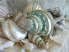 Sparkling Treasure From The Sea in Aqua  From The Collection  By Debbie Del Rosario-Weiss, Eisenberg, Judy Lee,