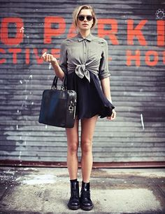dr martens and short skirt #wewantsale #drmartens #skirt http://www.wewantsale.nl/