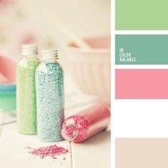 Pastel Glitter Color Palette