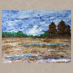 Winter Field, 24x30, acrylic