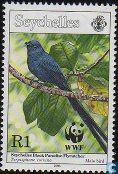 Seychelles - WWF - Seychelles paradise flycatcher 1996