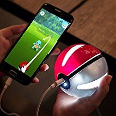 Pokemon GO Power Bank External Battery Charger, Sunmy Ultra Compact Portable Battery Pack With LED Light For for iPhone 7 6 plus Samsung Galaxy smart phone Cool Pokemon, Pokemon Fan, Pokemon Dolls, Pokemon Stuff, Pokemons Go, Pokemon Gifts, Univers Dc, External Battery Charger, Console