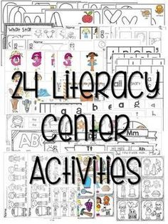 Kindergarten Centers  YEAR LONG BUNDLE ~ Kindergarten Literacy Centers is a how-to manual that is packed full of tips and activities for successfully and easily starting and maintaining centers in your classroom.