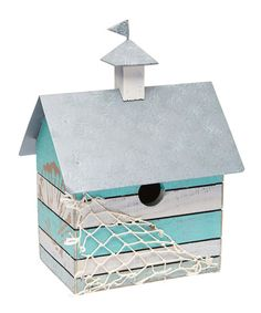 Look at this Coastal Birdhouse on #zulily today!