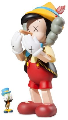 Paddle8: Pinocchio and Jiminy Cricket - KAWSMore Pins Like This At FOSTERGINGER @ Pinterest
