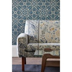 Style Library - The Premier Destination for Stylish and Quality British Design Black Wallpaper, Fabric Wallpaper, Liberty Wallpaper, Painted Rug, Co Design, Arts And Crafts Movement, Curtains With Blinds, Wingback Chair, Woven Fabric