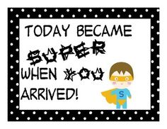 This is a fun inspirational poster to post around your classroom. Goes with a Super Hero or polka theme. ...