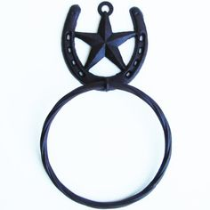 Texas Barn Star Western Decor Horseshoe Bath Towel Ring ** Be sure to check out this awesome product. Note:It is Affiliate Link to Amazon.