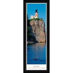 BlakewayPanoramas Lighthouse Split Rock Lighthouse Framed Photographic Print