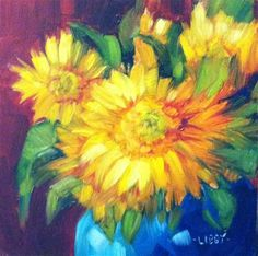 """Sun Lovers"" - Original Fine Art for Sale - © Libby Anderson"