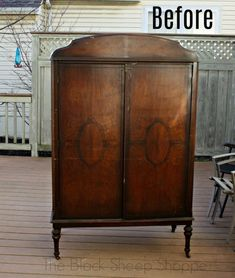 You'll wish you had this in your bedroom! Romantic Vintage Armoire #furniture #vintage #DIY #painting