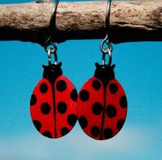 Cute Ladybug earrings ladybird earrings ladybug by HorakovaDesigns, $19.00